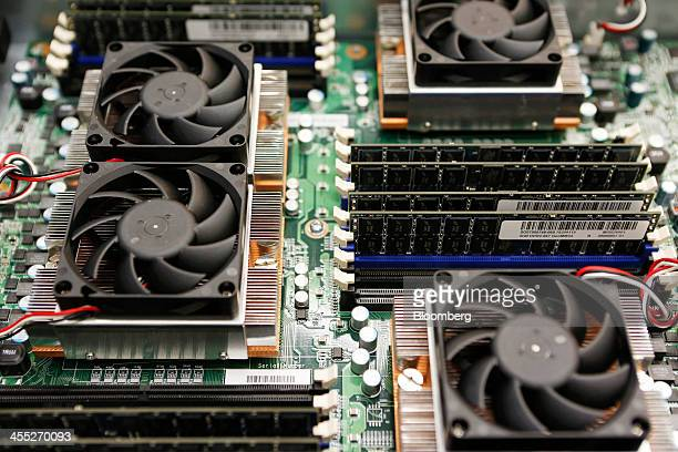 A server is displayed for a photograph at the opening ceremony of the Google data center in Changhua Taiwan on Wednesday Dec 11 2013 Google owner of...
