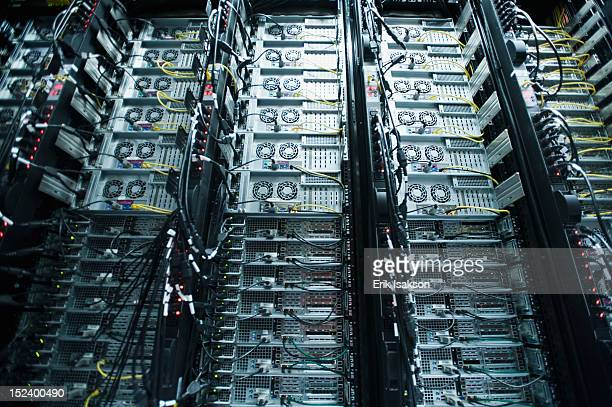Server racks and cables
