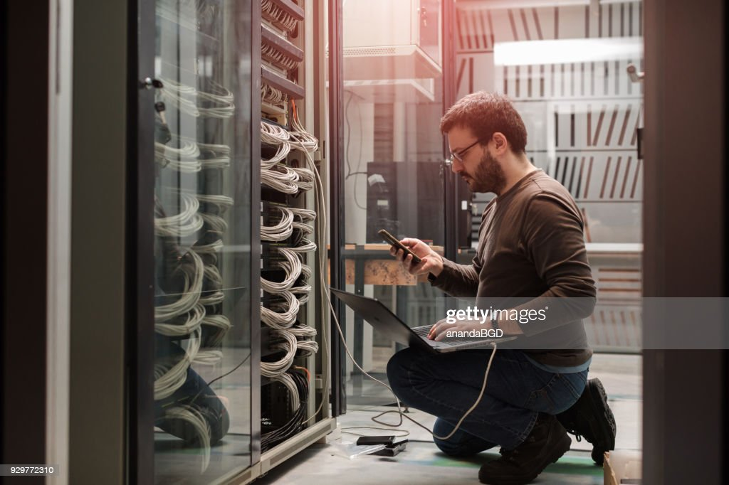 server rooms : Stock Photo