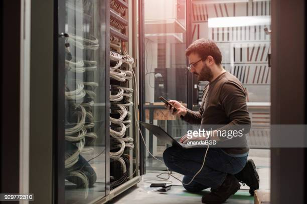 server rooms - telecommunications equipment stock pictures, royalty-free photos & images