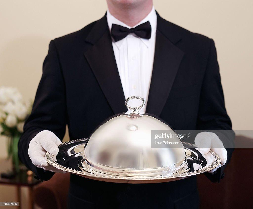Server with tray : Stock Photo