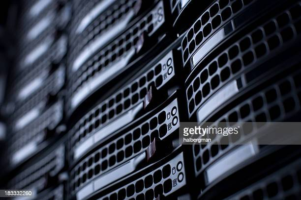 servers in a datacenter - data center stock pictures, royalty-free photos & images