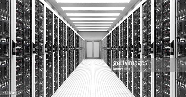 servers in data center - data center stock pictures, royalty-free photos & images