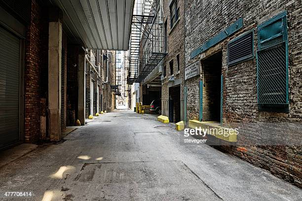 Service alley behind South Michigan Avenue, downtown Chicago