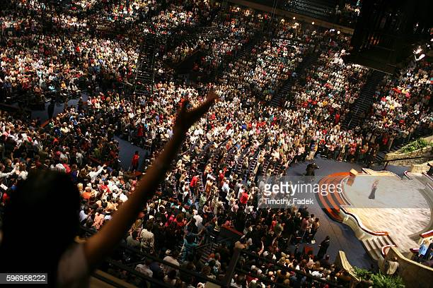 Service at Lakewood Church in Houston, where Pastor Joel Osteen preaches to some 25,000 people each week. There are currently 842 mega churches that...