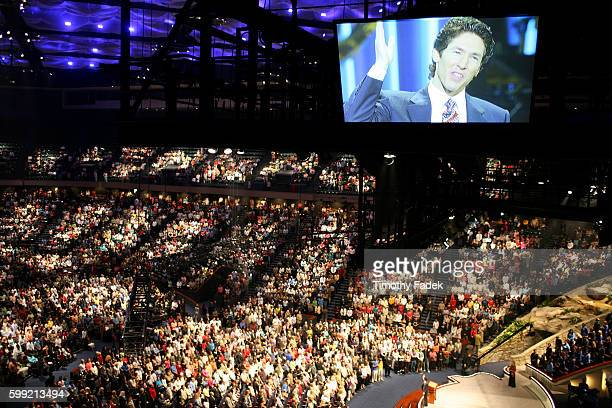 Service at Lakewood Church in Houston where Pastor Joel Osteen preaches to some 25000 people each week There are currently 842 mega churches that...
