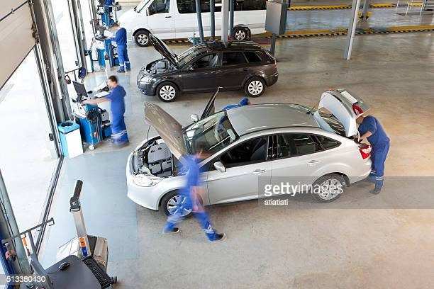 service employee  working in vehicle service