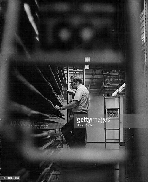 SEP 1971 SEP 10 1971 SEP 15 1971 Service Foreman Harold Topping inspects Cable Connections This is expanded Dry Creek Exchange of Mountain Bell...