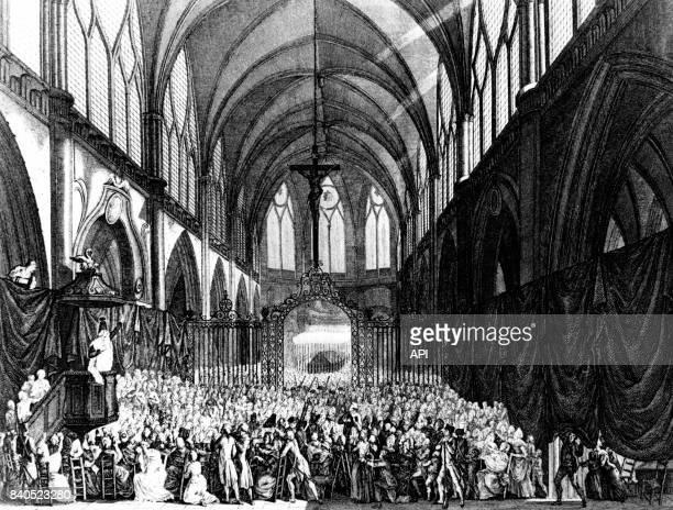 Service funèbre des morts de la prise de la Bastille le 5 août 1789 à Paris France