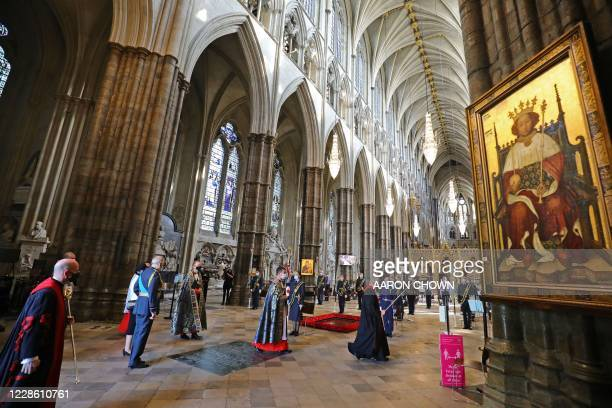 Service marking the 80th anniversary of the Battle of Britain at Westminster Abbey in central London on September 20, 2020. - Westminster Abbey has...