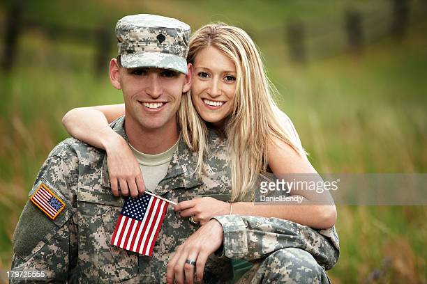 US Service Member With Young Wife