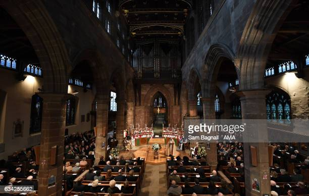 A service of thanks giving during the Funeral of Baroness Heyhoe Flint on February 8 2017 in Wolverhampton England