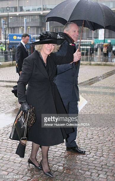 Service of Thanksgiving for the life and work of The Right Honourable Sir Angus Ogilvy Among those attending Camilla ParkerBowles