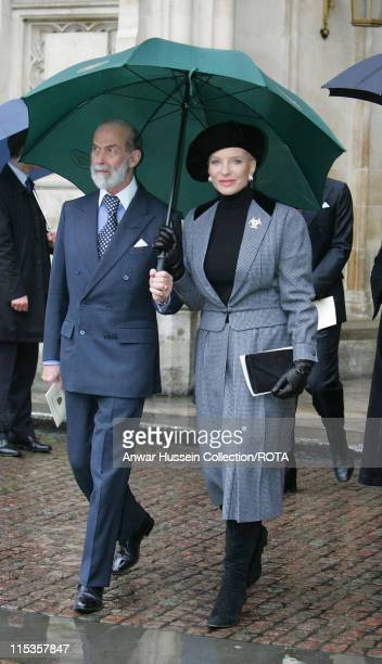 Service of Thanksgiving for the life and work of The Right Honourable Sir Angus Ogilvy Among those attending Prince and Princess Michael of Kent