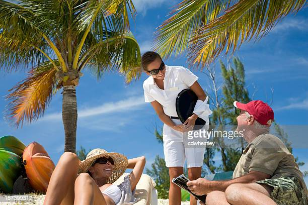 service on the beach