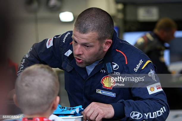 HYUNDAI service park action during the SS13 Baiao of the WRC Vodafone Rally Portugal 2016 in Matosinhos Portugal on May 20 2016