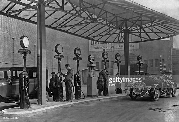 A service station in Berlin Germany in 1929 This station was Europe's largest and most modern at the time of its opening