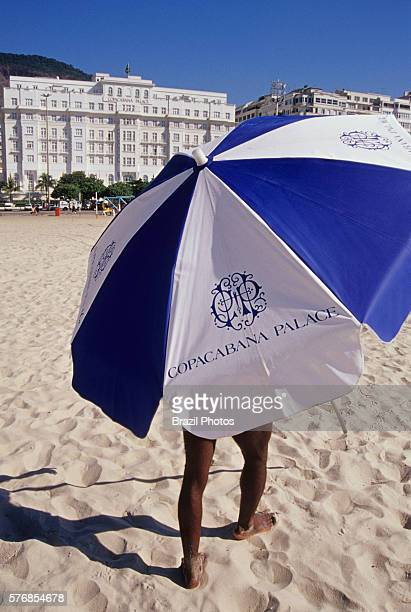 Service to guest umbrellas at the beach The Belmond Copacabana Palace is a luxury hotel located on Copacabana Beach in Rio de Janeiro Brazil the...