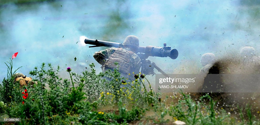 TOPSHOT-GEORGIA-US-MILITARY-EXERCISE : News Photo