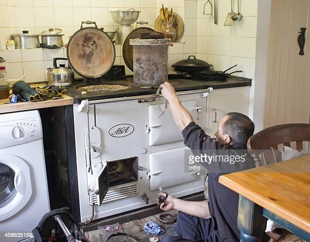 Servicing An Old Aga Cooker
