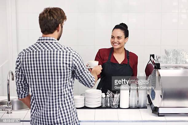 Kaffee mit einem Lächeln