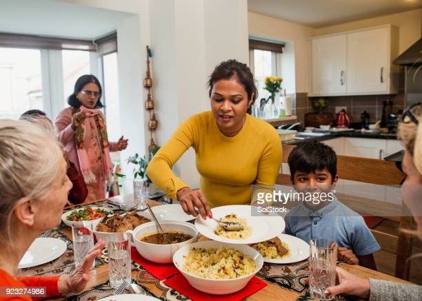 serving dinner - bangladesh mother stock pictures, royalty-free photos & images