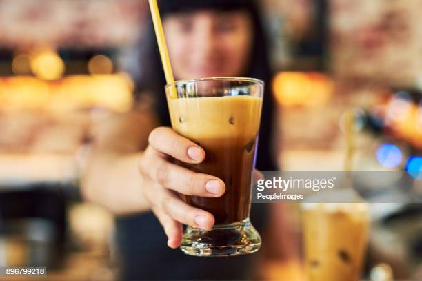 Serving gorgeous yummy drinks