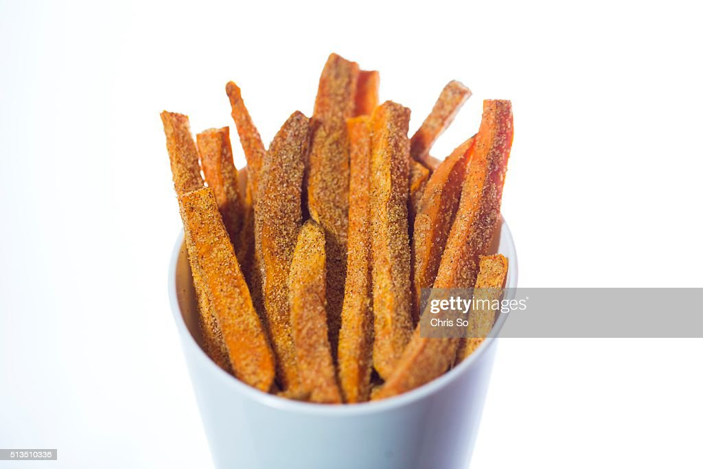 BOOK - A serving of sweet potato and coconut fries from the cookbook 'Superfoods 24/7' and the ingredients that go in it. January 29, 2016.