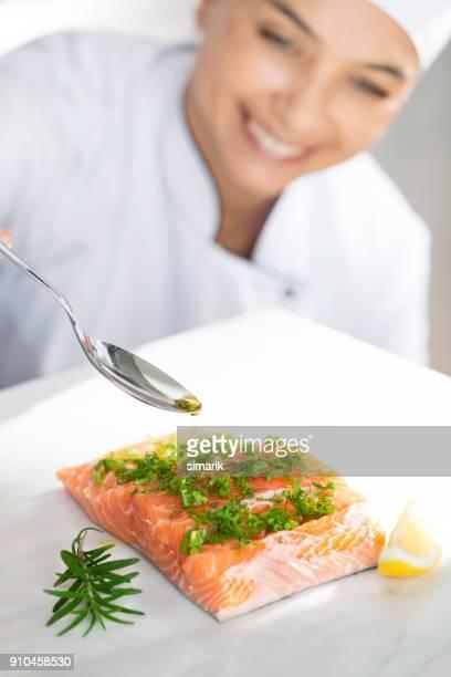 Serving Salmon