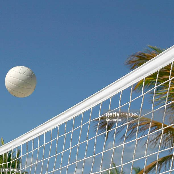 serving the ball - spiking stock photos and pictures
