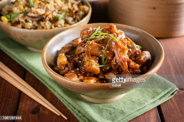 sesame chicken - sesame stock pictures, royalty-free photos & images