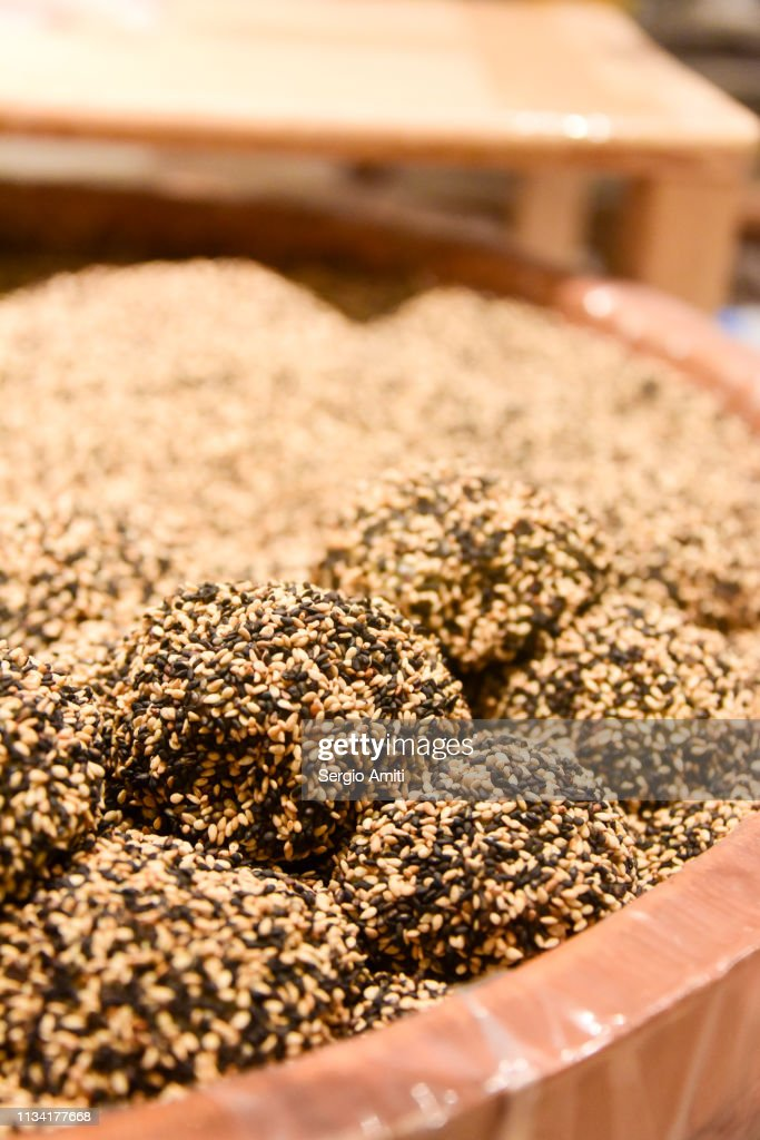 Sesame Mochi Stock Photo - Getty Images