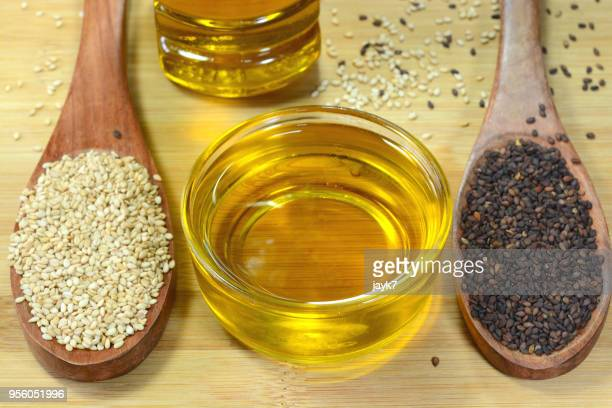 sesame oil - sesame stock pictures, royalty-free photos & images