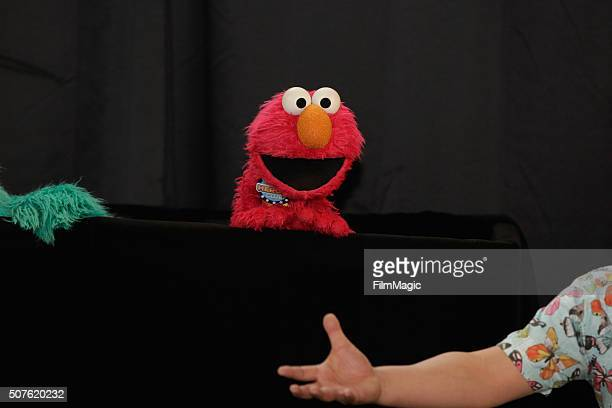 Sesame Street cast member Elmo performs during the Sesame Street and HBO hosted Free Museum Day on January 30 2016 in Phoenix Arizona