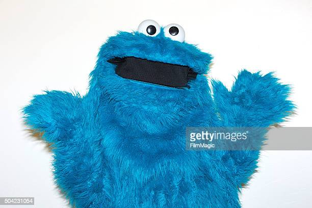 Sesame Street character Cookie Monster poses backstage at Sesame Street and HBO Host Free Museum Day with a special performance by Elmo and Friends...