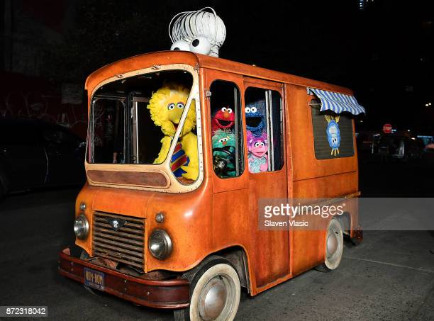 Sesame Street Characters Big Bird, Elmo, Cookie Monster, and Abby Cadabby attend HBO Premiere of Sesame Street's The Magical Wand Chase at the...
