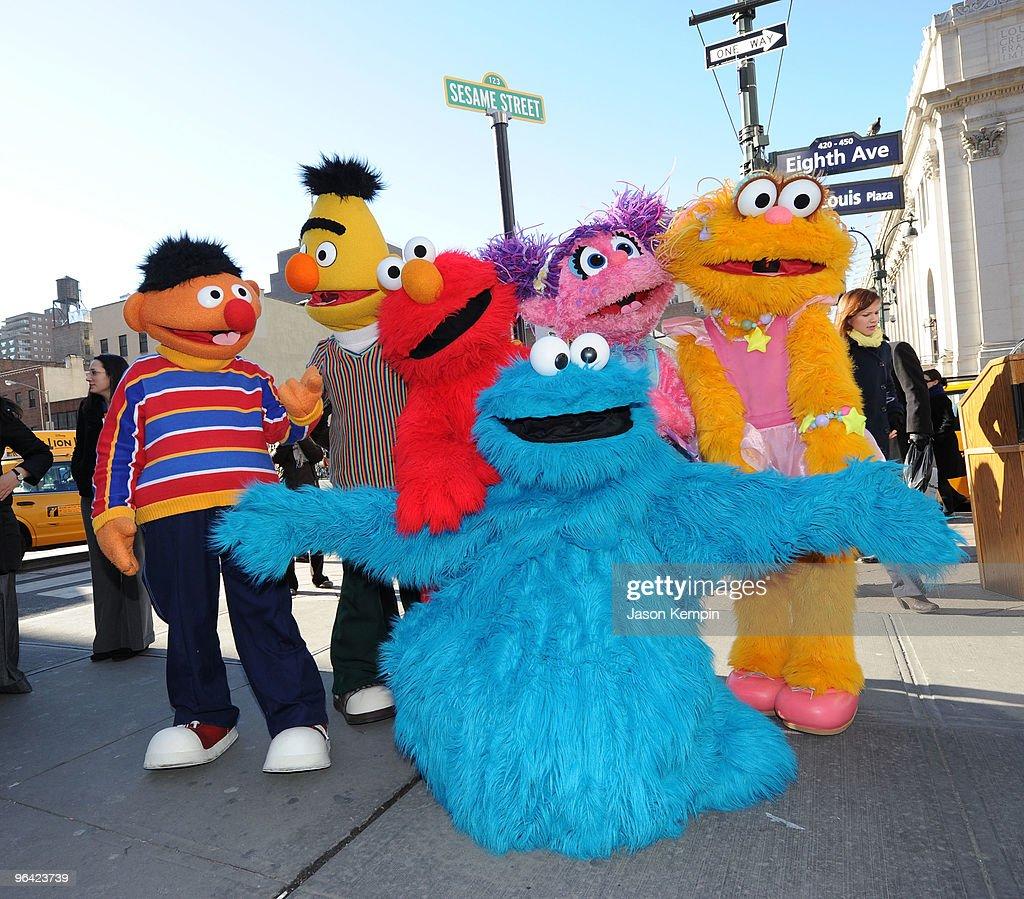 Sesame Street Characters Ernie Bert Elmo Cookie Monster