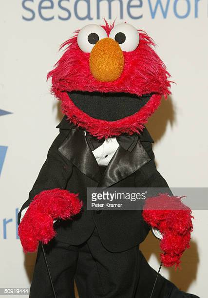Sesame Street Muppet Elmo attends the Sesame Workshop's Second Annual Benefit Gala June 2 2004 in New York City