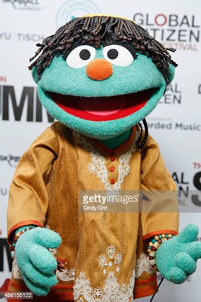 Sesame Street muppet Raya attends the Global Citizen Festival The Action Summit 2014 on September 26 2014 in New York City