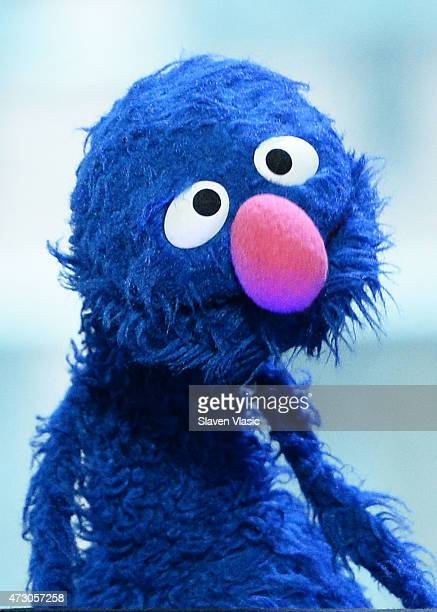 Sesame Street's Grover attends AOL Build Speaker Series 'Sesame Street's Grover And The USO Dr Jeanette Betancourt And Rachel Tischler' at AOL...