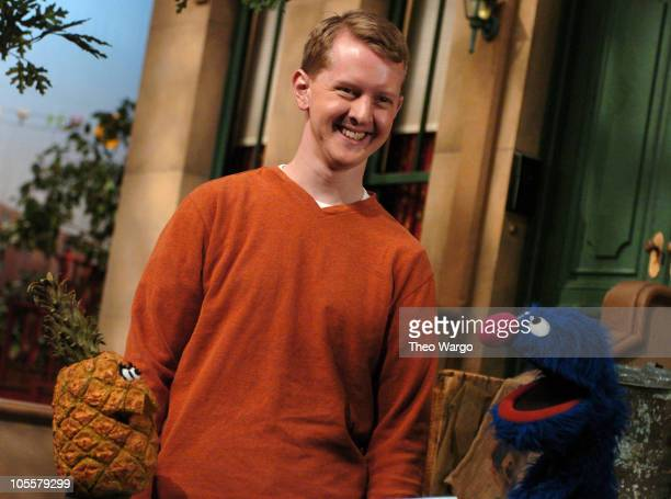 Sesame Street's Grover tests Jeopardy Champ Ken Jennings knowledge of healthy foods. Taping is part of Sesame Street's 36th Season which begins...
