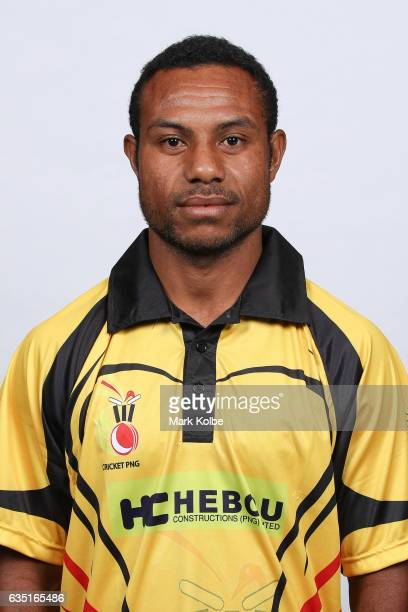Sese Bau of Papua New Guinea poses during a Papua New Guinea headshots session at the Realm Hotel on February 14 2017 in Canberra Australia