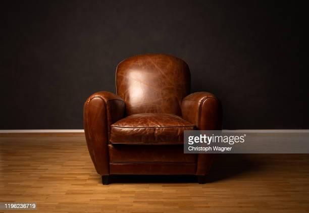 sessel - leather stock pictures, royalty-free photos & images