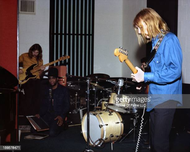 Session guitarist Duane Allman meets and jams with future Allman Brothers Band members Berry Oakley and Jaimoe Johanson at FAME Studios in 1968 in...