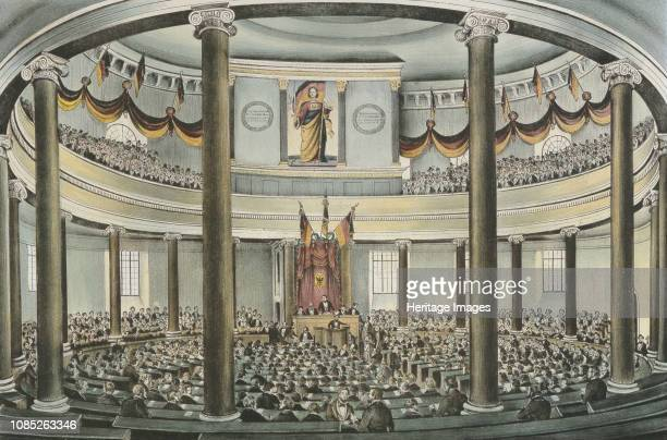 Session of the Frankfurt National Assembly in the Paulskirche at Frankfurt am Main 1848 Private Collection