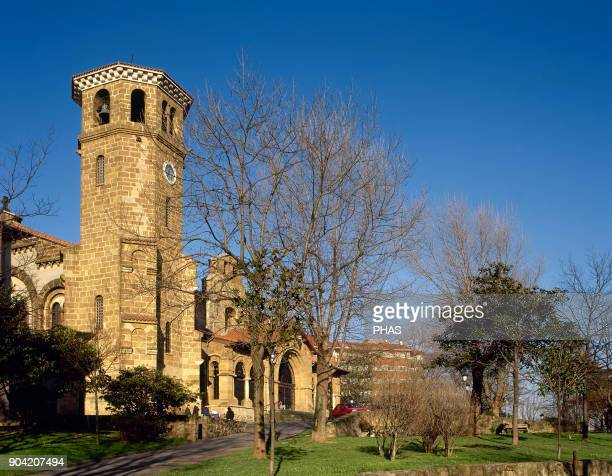 Sestao province of Vizcaya Basque Country Spain Church of Santa Maria Parish church The original building dates from early 16th century in a Gothic...