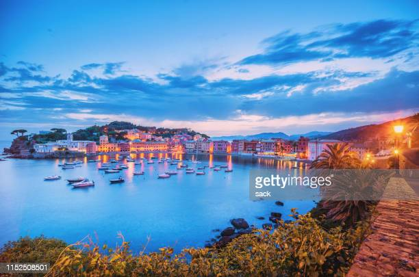 sestri levante - genoa italy stock pictures, royalty-free photos & images