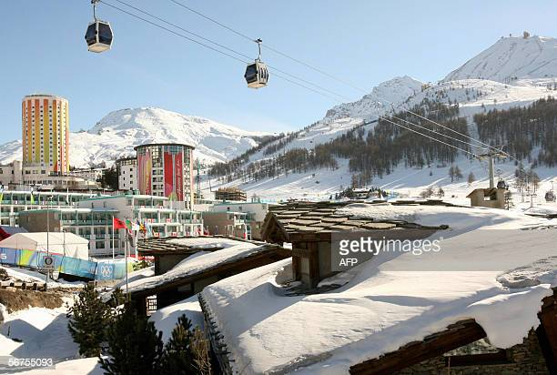 A view of the Olympic village at the Italian resort of Sestriere 06 February 2006 The Winter Olympics are running from 1026 February AFP PHOTO/JOHN...