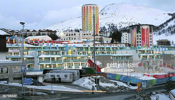 General view taken 08 February 2006 shows the Olympic Village at the 2006 Winter Olympics in Sestriere AFP PHOTO/DDP JOHANNES SIMON