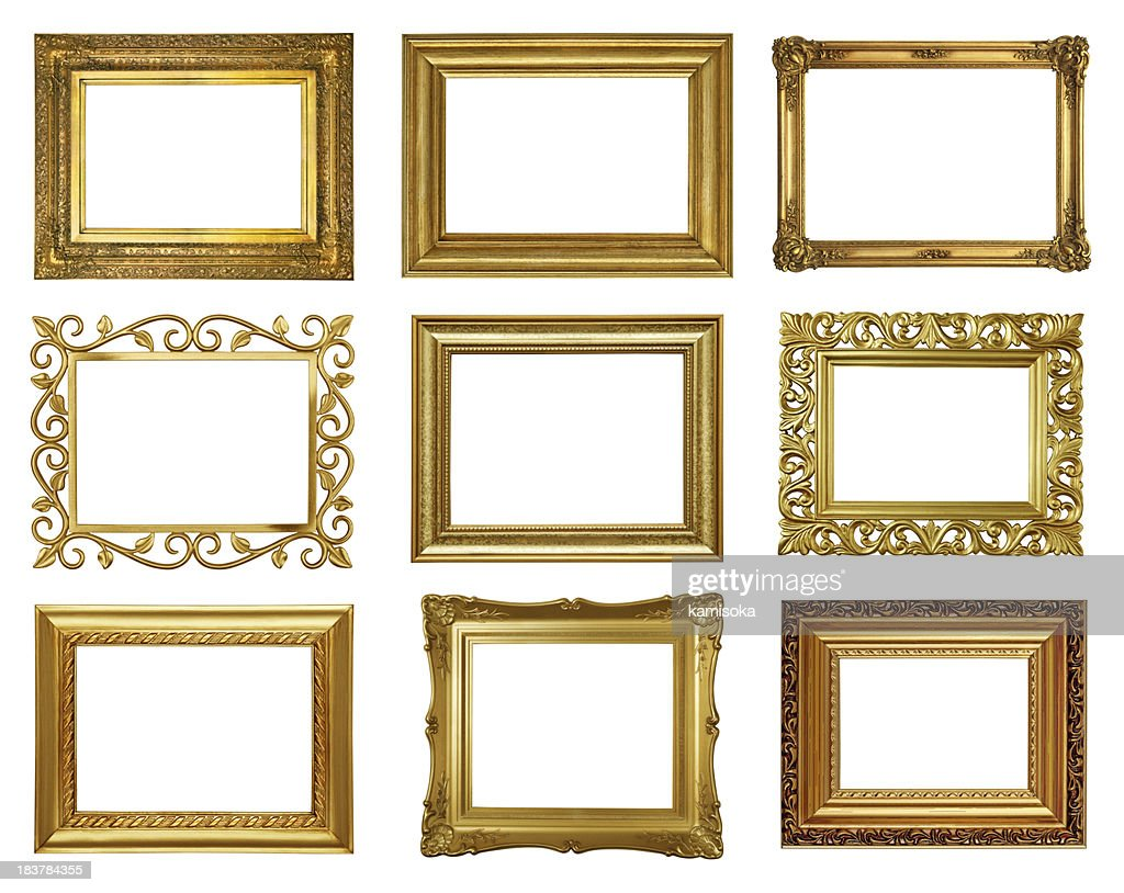 Set 4 Von Antik Gold Bilderrahmen Stock-Foto | Getty Images